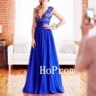 Sleeveless V-Neck Prom Dress,Applique Prom Dresses,Long Evening Dress
