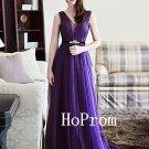 Sparkly Prom Dress,Purple Prom Dresses,Long Evening Dress