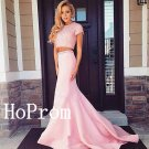 Short Sleeve Prom Dress,Pink Prom Dresses,Long Evening Dress