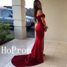 Off Shoulder Prom Dress,Red Prom Dresses,Long Evening Dress