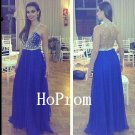 Deep V-Neck Prom Dress,Backless Prom Dresses,Long Evening Dress