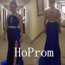 Sleeveless Backless Prom Dress,Long Prom Dresses,Satin Evening Dress