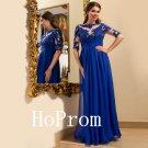 High Neck Prom Dress,Long Sleeve Prom Dresses,Long Evening Dress
