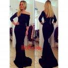 Floor Length Prom Dress,Black Prom Dresses,Simple Evening Dress