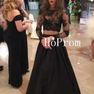 Black Prom Dress,Lace Prom Dresses,Long Evening Dress