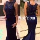 Beaded Prom Dress,Sleeveless Prom Dresses,Floor Length Evening Dress