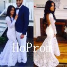 Open Back Prom Dress,Whtie Prom Dresses,Lace Evening Dress