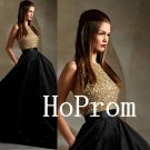 High Neck Prom Dress,Sparkly Prom Dresses,Long Evening Dress