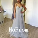 Spaghetti Straps Prom Dress,A-Line Prom Dresses,Evening Dress