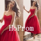 Chiffon Red Prom Dress,Strapless Prom Dresses,Evening Dress