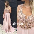 Applique Prom Dress,A-Line Prom Dresses,Evening Dress
