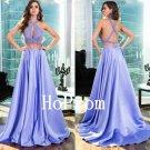 Two Piece Prom Dress,Halter Prom Dresses,Evening Dress