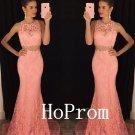 Lace Mermaid Prom Dress,Sleeveless Prom Dresses,Evening Dress