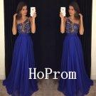 One Shoulder Prom Dress,Royal Blue Prom Dresses,Evening Dress