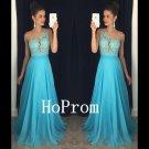 One Shoulder Prom Dress,A-Line Prom Dresses,Long Evening Dress