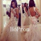 Backless White Prom Dress,Sequin Prom Dresses,Evening Dress