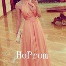 A-Line Prom Dress,Chiffon Long Prom Dresses,Evening Dress