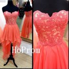 High Low Prom Dress,Strapless Prom Dresses,Evening Dress