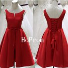 Knee Length Homecoming Dress,Red Bandage Homecoming Dresses,Prom Dress