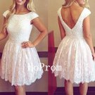 Cap Sleeve Homecoming Dress,Beaded Short Homecoming Dresses,Prom Dress