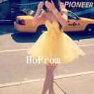 Sweetheart Homecoming Dress,Yellow Tulle Homecoming Dresses,Prom Dress