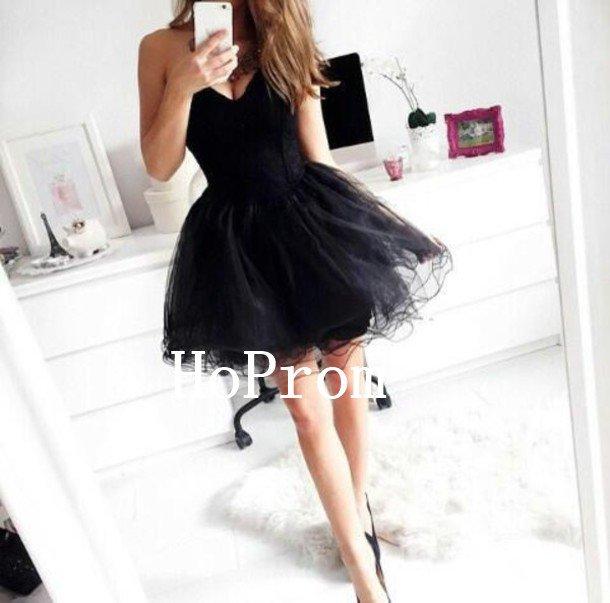Black Tulle Homecoming Dress,Short Mini Homecoming Dresses,Prom Dress