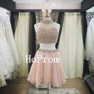 High Neck Homecoming Dress,Beaded Short Homecoming Dresses,Prom Dress