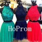 High Neck Homecoming Dress,Two Piece Homecoming Dresses,Prom Dress