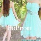Mint Short Homecoming Dress,Chiffon Homecoming Dresses,Prom Dress