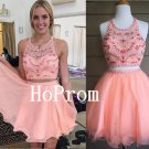 Two Piece Homecoming Dress,A-Line Homecoming Dresses,Prom Dress