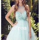 Sleeveles Tulle Homecoming Dress,Beading Homecoming Dresses,Prom Dress
