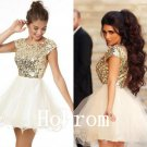 Short Sleeve Homecoming Dress,Sequins Homecoming Dresses,Prom Dress