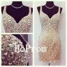 V-Neck Homecoming Dress,Sheath Homecoming Dresses,Prom Dress