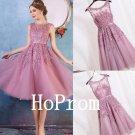 Knee Length Homecoming Dress,Applique Homecoming Dresses,Prom Dress