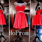 Short Chiffon Homecoming Dress,Beading Homecoming Dresses,Prom Dress