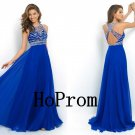 Royal Blue Prom Dress,Backless Prom Dresses,Evening Dress