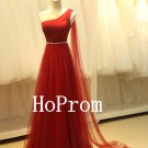 One Shoulder Prom Dress,A-Line Prom Dresses,Evening Dress