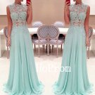 See Through Prom Dress,Sleeveless Prom Dresses,Evening Dress