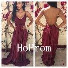 Spaghetti Straps Prom Dress,Backless Prom Dresses,Evening Dress