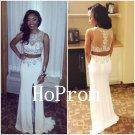 Two Piece Prom Dress,Sleeveless Prom Dresses,Evening Dress