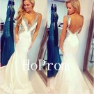 V-Neck Backless Prom Dress,Mermaid Prom Dresses,Evening Dress