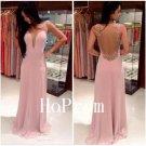 Backless Prom Dress,Satin Prom Dresses,Evening Dress