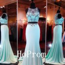 Two Piece Prom Dress,Mermaid Prom Dresses,Evening Dress