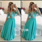 A-Line Prom Dress,Long Sleeve Prom Dresses,Evening Dress