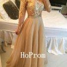 A-Line Prom Dress,Long Sleeve Prom Dresses,Evening Dress