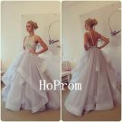 Backless Prom Dress,Long Tulle Prom Dresses,Evening Dress