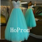 Low Back Prom Dress,A-Line Tulle Prom Dresses,Evening Dress