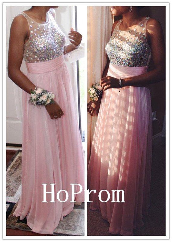 Sleeveless Beaded Prom Dress,A-Line Prom Dresses,Evening Dress