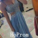 Spaghetti Straps Prom Dress,Beading Prom Dresses,Evening Dress