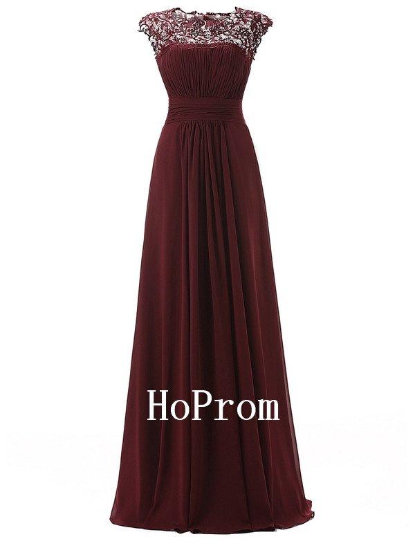 Cap Sleeve Prom Dress,A-Line Prom Dresses,Evening Dress